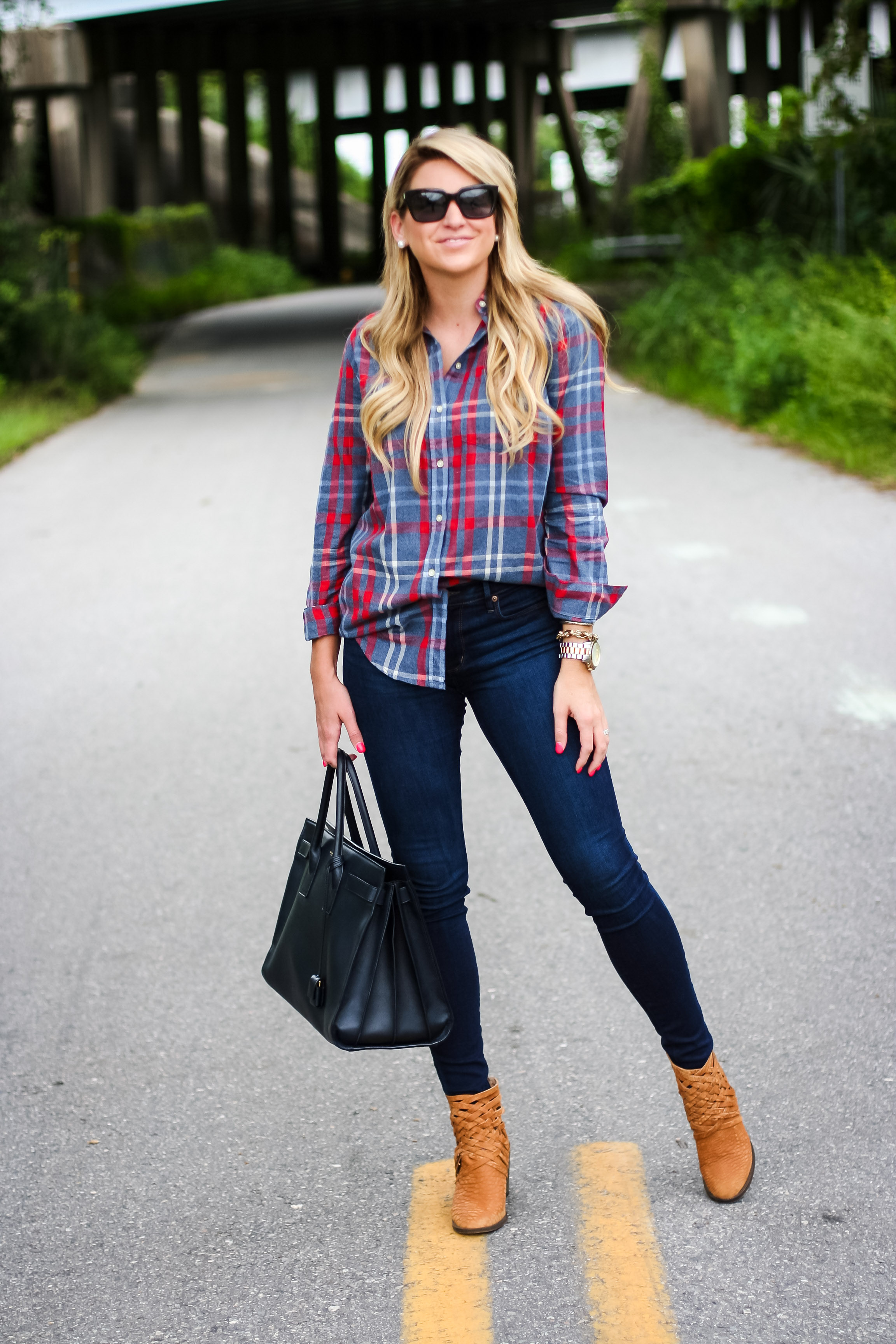 Outfit Front Tucking Plaid Shirt Shop Dandy A