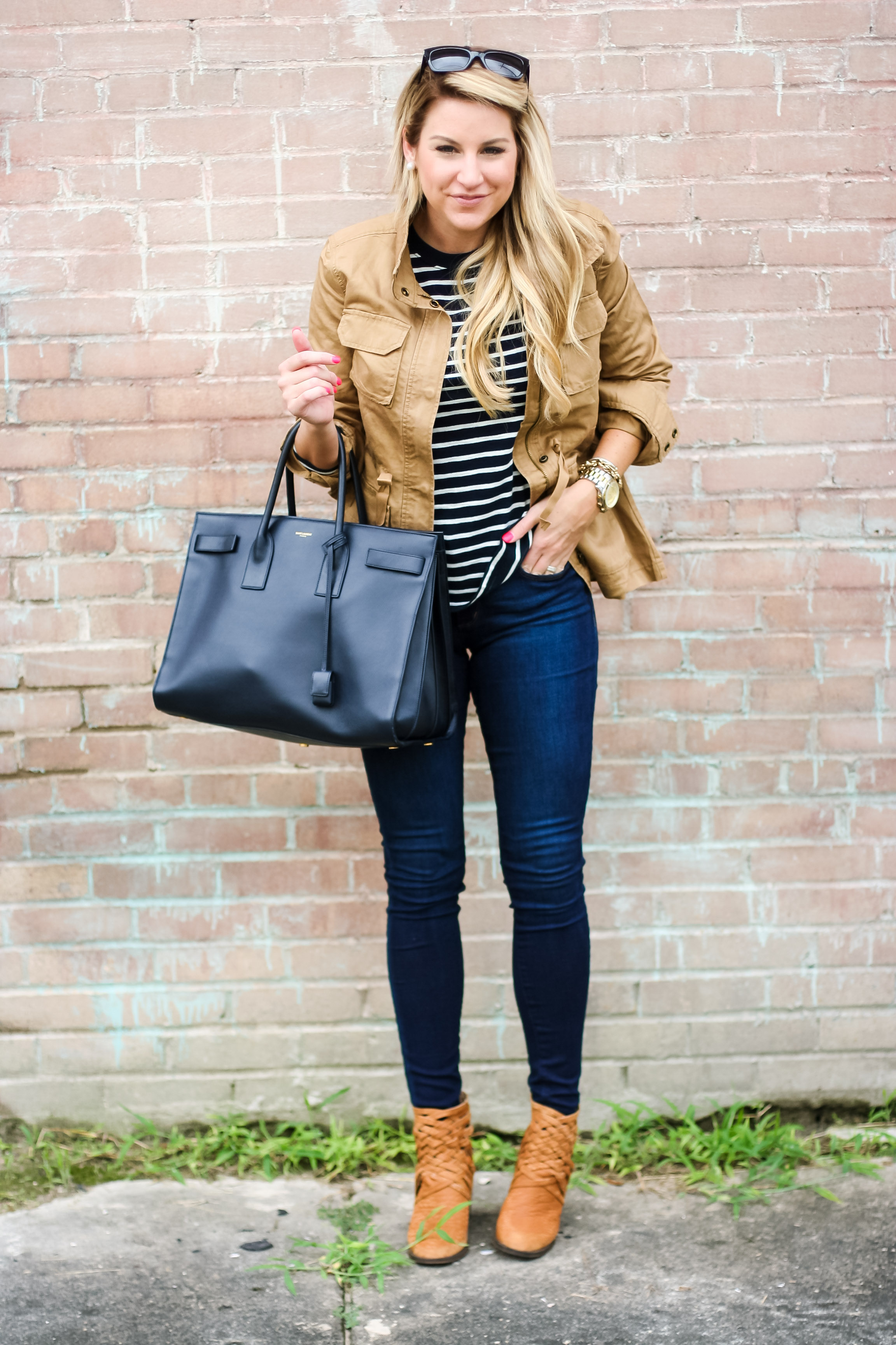 Outfit Stripe Tee And Twill Anorak Shop Dandy A