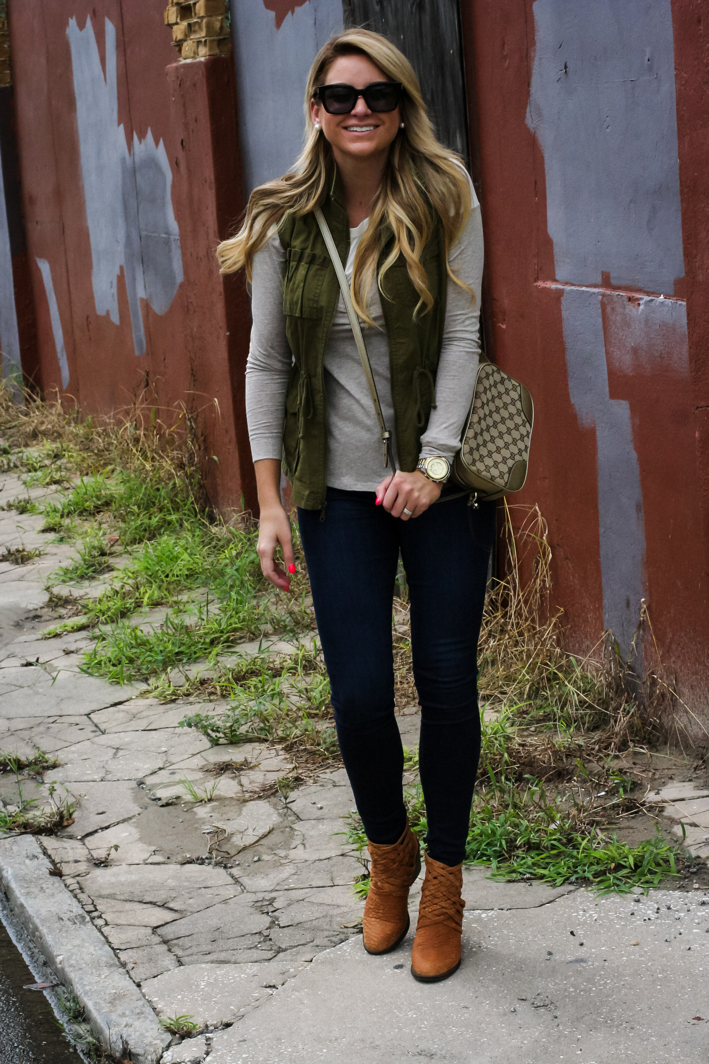 Womens fashion cargo vest