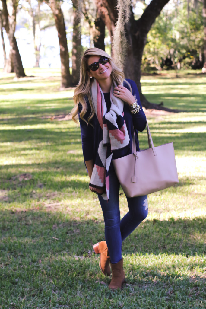 Outfit Fall Piko Top Scarf SHOP DANDY A Florida Based Style And Beauty Blog By Danielle