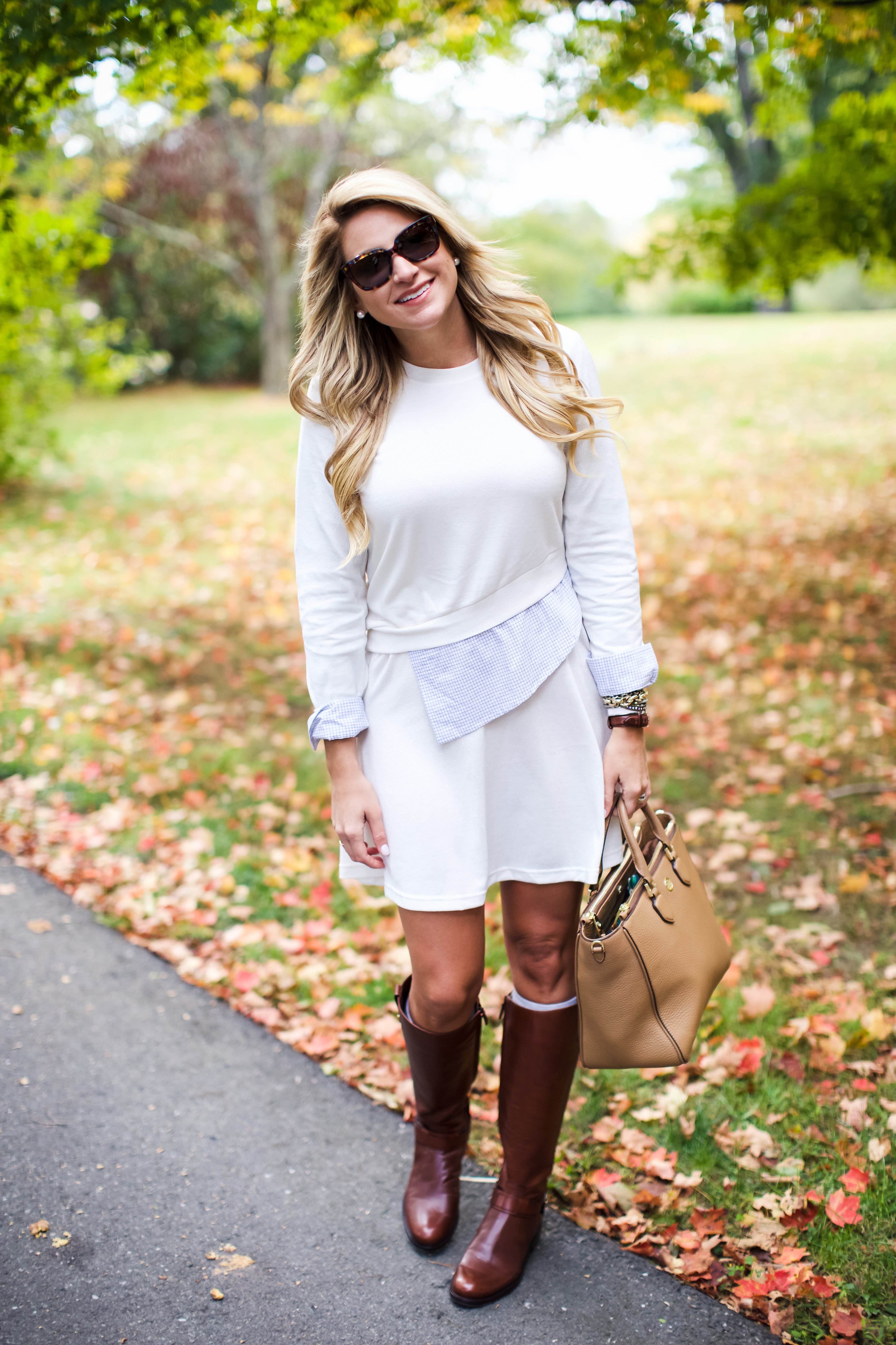 Outfit Fall Leaves Sweater Dress Sale Shop Dandy