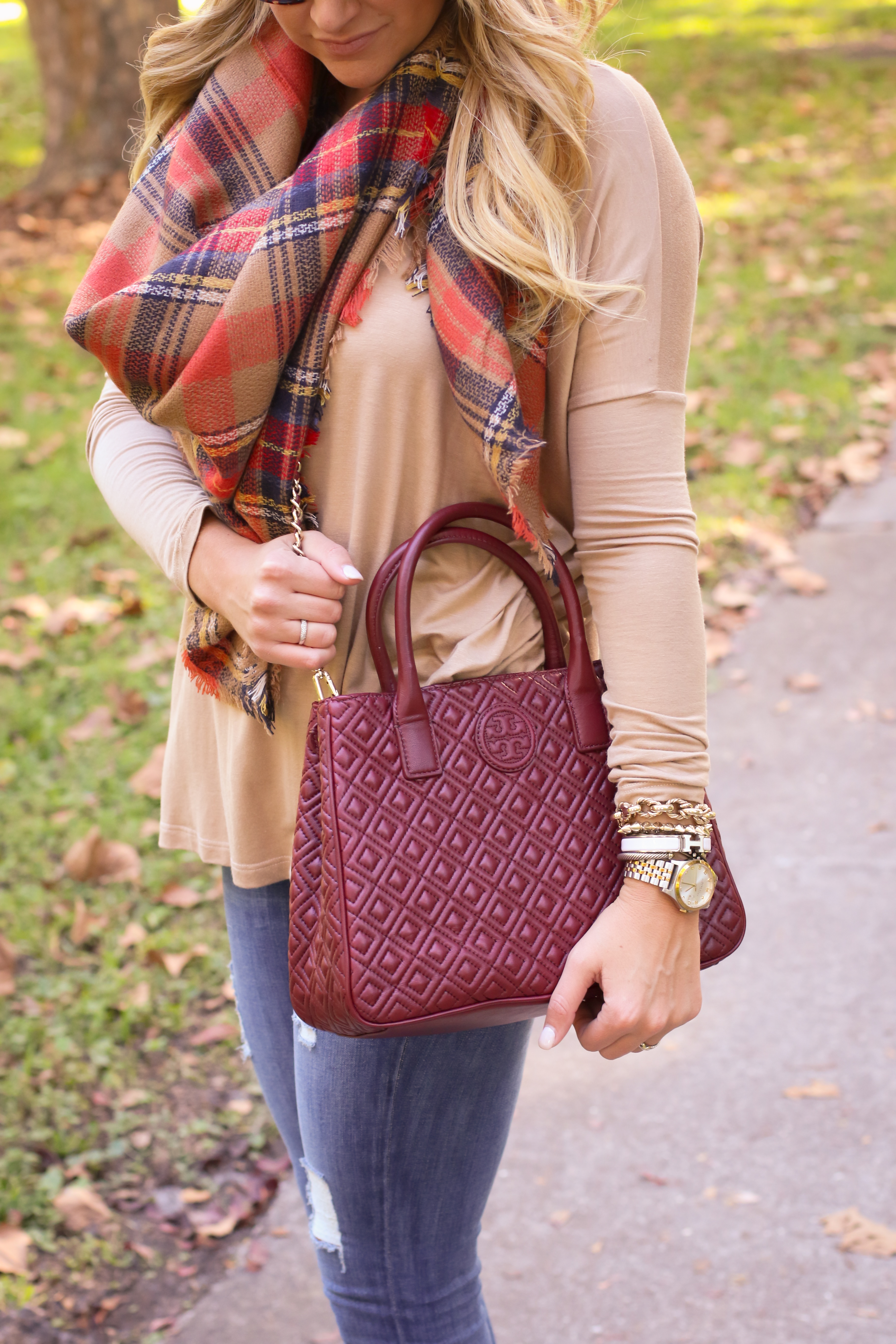 prada saffiano leather wallet red - Outfit | Thanksgiving Fall Plaid - SHOP DANDY | Shop Dandy Blog ...