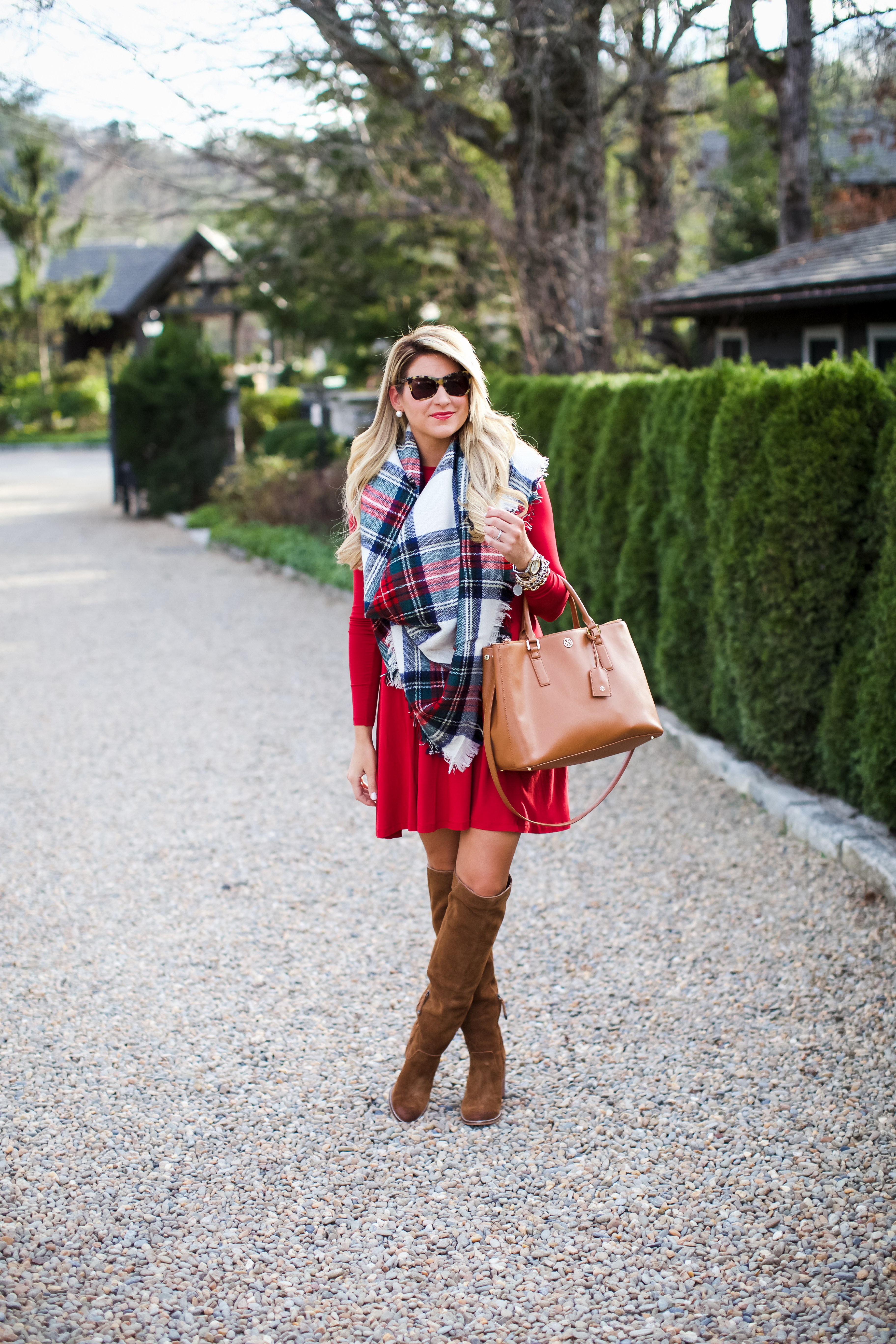 outfit christmas plaid scarf shop dandy a florida based style and beauty blog by danielle - Christmas Plaid Scarf