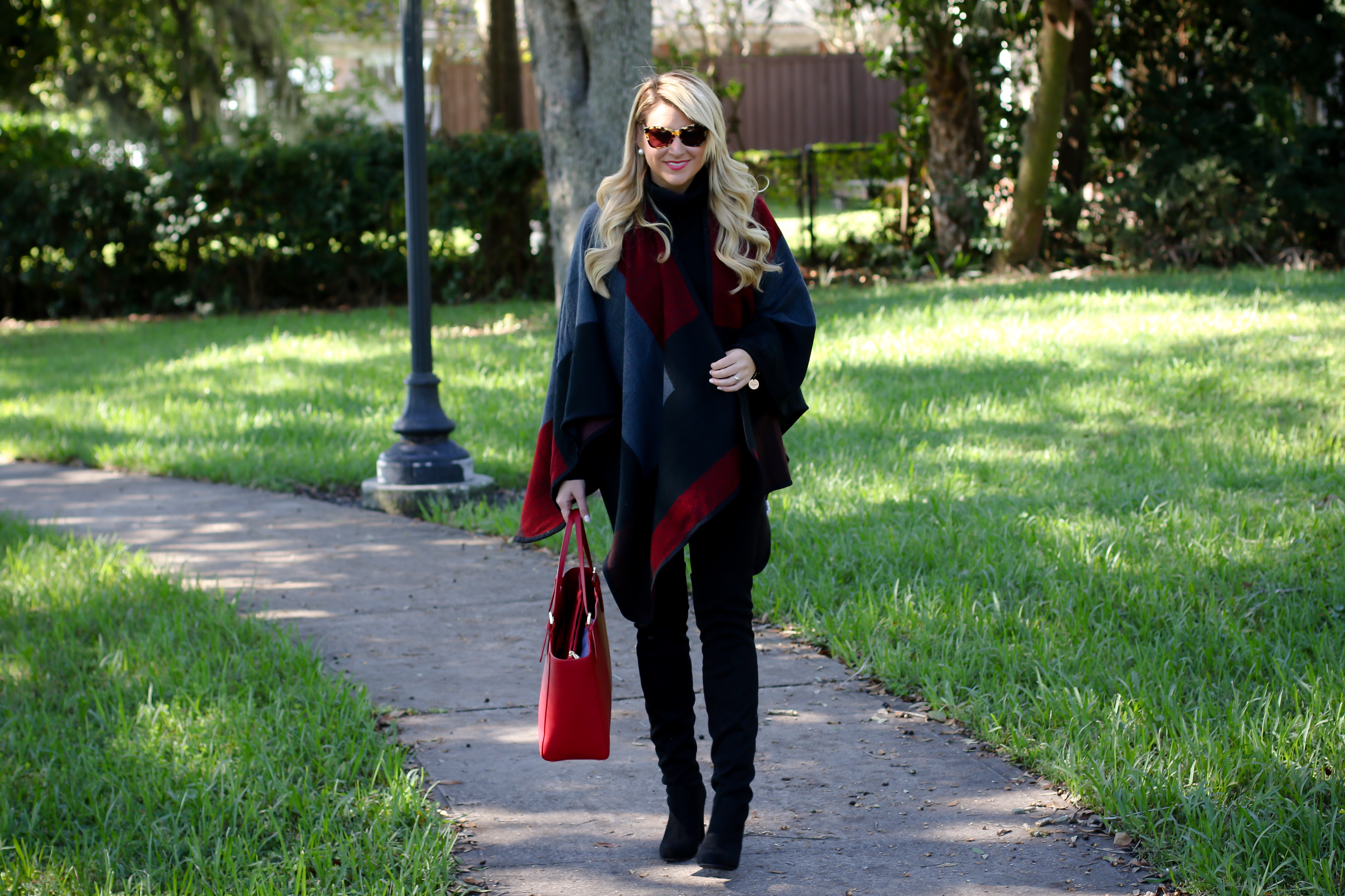 Outfit Winter Capes And Over The Knee Boots Shop Dandy